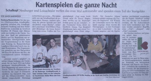 Zeitungsartikel der Neuburger Rundschau (25.02.2013)