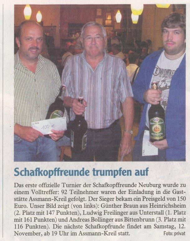 Zeitungsartikel der Neuburger Rundschau (21.10.2011)