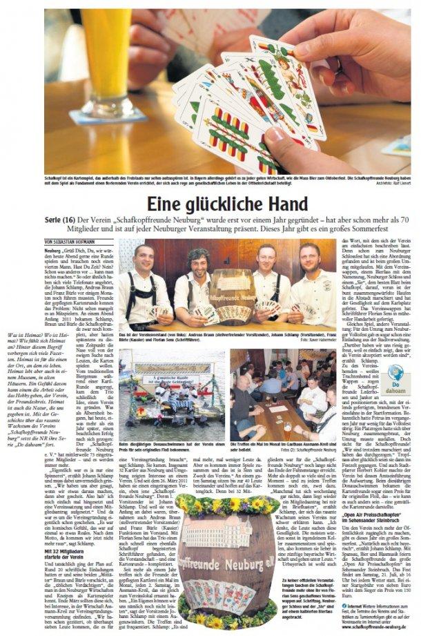 Zeitungsartikel der Neuburger Rundschau (16.06.2012)