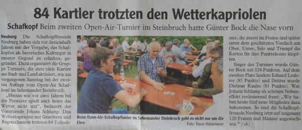 Zeitungsartikel der Neuburger Rundschau (05.08.2014)