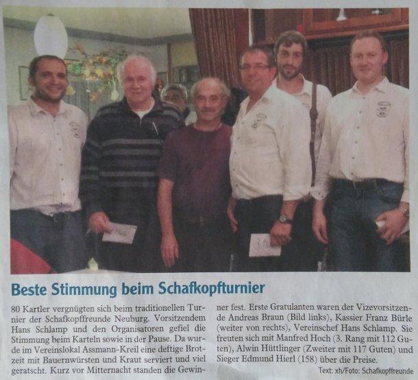 Zeitungsartikel der Neuburger Rundschau (20.10.2014)