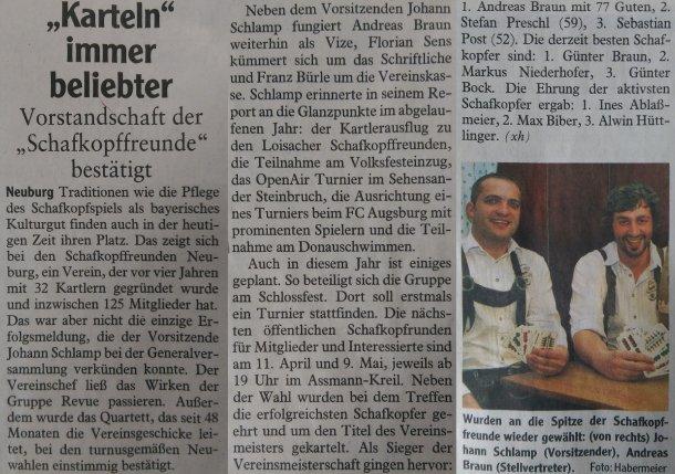 Zeitungsartikel der Neuburger Rundschau (20.03.2015)