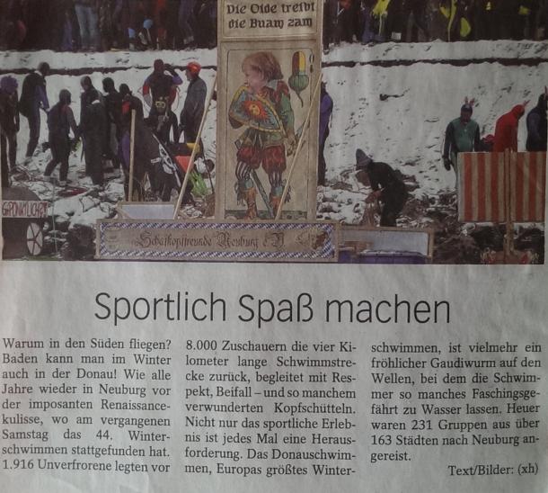 Zeitungsartikel der Neuburger Rundschau (28.01.2013)