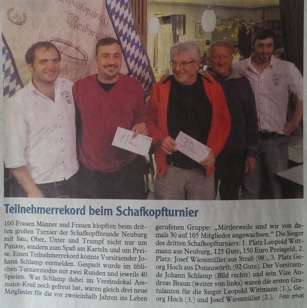 Zeitungsartikel der Neuburger Rundschau (16.10.2013)