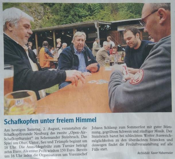 Zeitungsartikel der Neuburger Rundschau (02.08.2014)